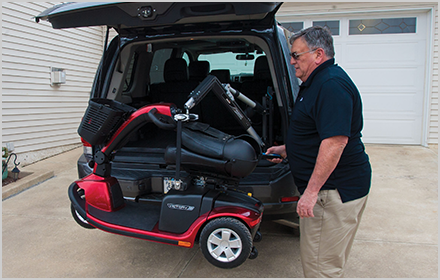 Bruno Scooter Lift Harmar Trilift Pride Wheelchair Carrier